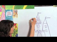 How to draw a Castle - Great Artist Mom - Guided Drawing