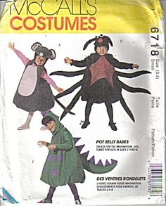 Pot Belly Babes McCall's Costumes Pattern #6718 SZ S (Image1)