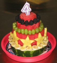 A fun, healthy alternative to birthday cake.