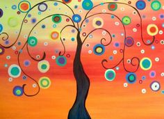 Fun Funky Houses Trees Art Shower