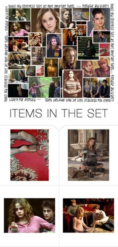 """""""Hermione Granger // The Most Brilliant Witch of Her Age//"""" by thehelsinghatter ❤ liked on Polyvore featuring art, HermioneGranger and PottermoreInPolyvoreMagicChallenge"""