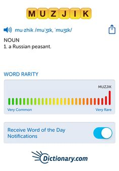 The best word I've seen today on Words with Friends is 'muzjik'. Can you come up with a better one?