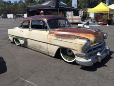 "1954 Chevrolet With 18"" Steelies (Jimenez Bros Customs) (Detroit Steel Wheels) (Lords CC Riverside, CA)"