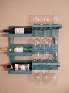 Wall mounted wine rack by AlwagiCorner on Etsy