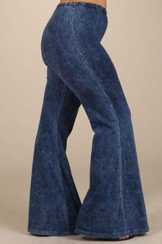 PLUS---Mineral washed bell bottom pants – Norma Jeanes