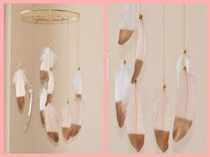 Nursery Mobile Baby Girl Mobile Dreamcatcher by BlueDreamcatcher