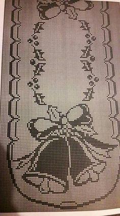 Crochet Patterns Filet, Crochet Tablecloth Pattern, Funny Cross Stitch Patterns, Christmas Crochet Patterns, Holiday Crochet, Crochet Doilies, Xmas Cross Stitch, Cross Stitch Borders, Creation Art