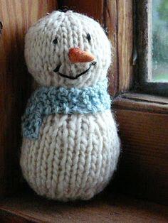 Cute knitted snowman