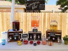 Bridal Shower | A Peace of Creativity More. the sangria bar ...