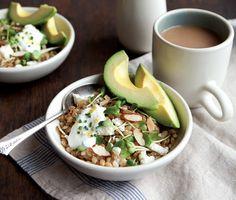California Barley Bowl with Lemony Yogurt Sauce Recipe | Epicurious.com