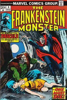 Frankenstein (1973 Marvel) comic books Sci Fi Comics, Horror Comics, Marvel Comic Books, Comic Books Art, Comic Art, Crime Comics, The Frankenstein, Silver Age Comics, Frankenstein's Monster