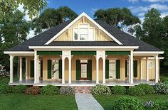 1516 sq ft; Plan W55141BR: Compact Charming House Plan [LOVE this one; would add a fireplace]