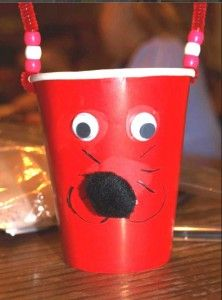 valentines day Goldfish Puppy Cups, sucha cute idea for a school party!
