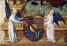 Armes de Lorraine (f°3v) -- «Vie de Jésus Christ», de Ludolphe de Saxe, trad. anon., tome I, français, 1506 [BM de Lyon, Ms 5125]