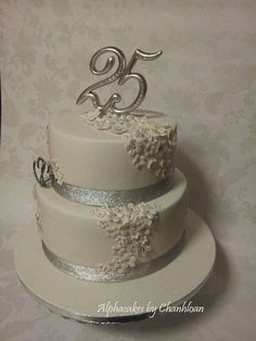 25th Anniversary cake - CakesDecor