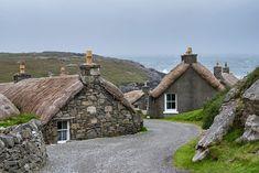 UK, Scotland, Isle of Lewis, Gearrannan, Blackhouse Village
