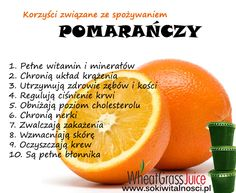 Zielone koktajle: pomarańcza + banan + sok z trawy pszenicznej Healthy Tips, Healthy Recipes, First Health, Wellness, Slow Food, Health Eating, Nutrition Tips, Herbalife, Fett