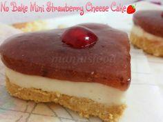 manju's food: No Bake Mini Strawberry Cheese Cake