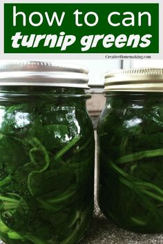 Easy recipe for canning turnip greens. You can also use this recipe for canning collard greens, spinach, beet greens, mustard greens, and more! Canning Soup Recipes, Pressure Canning Recipes, Canning Tips, Home Canning, Pressure Cooking, Turnip Recipes, Southern Greens, Recipes