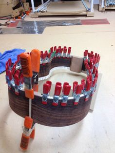 rout & glue-in end graft, kerf top edge, kerf bottom edge, brace back