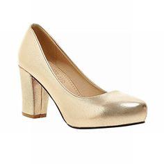 Carolbar Women S Chic Sweet Block High Heel Commuting Cou