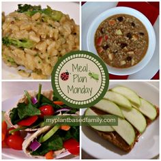Spring Meal Plan that is gluten free and vegan! Easy ideas for breakfast, lunch, and dinner.