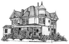 victorian mansions Colouring Pages (page 3)
