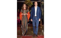 Kate donned a Tory Burch dress to attend a dinner with King Jigme Khesar Namgyel Wangchuck and Queen Jetsun Pema.