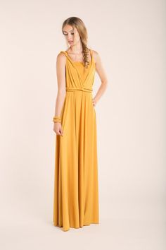 Gelbes Cocktailkleid für laue Sommerabende / yellow dress by Mimetik BCN via DaWanda.com