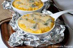 Polenta Concia: Yummy! I cut down on the amounts of cheese just because it would have cost me $$$ to make the recipe as written (cheese is pricey here in Argentina!), but it was still rich and very tasty. I made it in one large casserole dish instead of individual dishes.