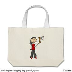 Stick Figure Shopping Bag