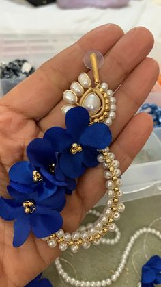 Lucite Flower Earrings, Fabric Earrings, Beaded Earrings Patterns, Seed Bead Earrings, Blue Earrings, Handmade Beaded Jewelry, Earrings Handmade, Wire Wrapped Jewelry, Wire Jewelry