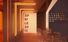 Il nuovo calendario per il desktop che ti terrà compagnia per tutto il mese, un Aprile a tinte forti!  by aemmebi.it