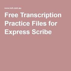 Free Transcription Practice Files for Express Scribe Transcription Jobs For Beginners, Transcription Jobs From Home, Medical Coding, Medical Billing, Medical Assistant, Medical Transcriptionist, Job Info, Medical Terminology, Scribe