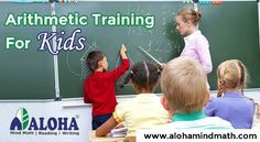 ALOHA offers Abacus Math Classes for kids between 5 and 6 years. The Arithmetic training for kids will help to improve their math activities and solve problems.