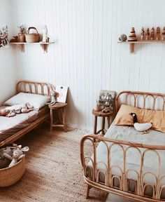vintage daybeds child style is part of Kid room decor it& no secret that vintage bamboo daybeds are back in style, but have you thought about them for le bébé -