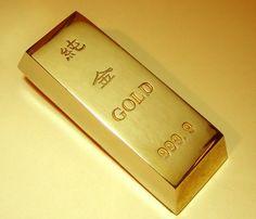Reproduction Gold bullion Bar 999.9