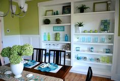 I love this dining room and the colors. Such great ideas to inspire me!