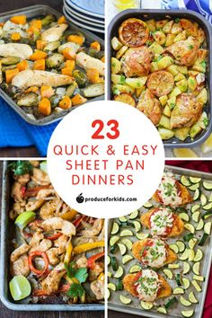 Who's a fan of sheet pan dinners? This mom! What's easier than protein + veggies + seasoning, then just throwing it all on a sheet pan and baking? During the craziness of the week, sheet pan dinners are a real lifesaver since they're quick, easy and require little-to-no clean-up. That means I can serve a nutritious dinner and have time to spend with my family. A win-win in my book!