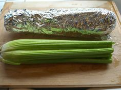 Wrap celery in foil to store.  This will keep it fresh for up to a month. Image: Jill Conyers