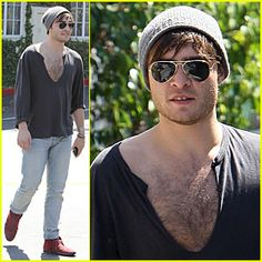 I do love Ed Westwick in Gossip Girls, but I saw a buffed up hairy fellow wearing such a low cut shirt across from me at a cafe that I squirmed uncomfortably in my seat. Seeing so much hair on a stranger so early in the morning (I was having brekky) was not on the menu.