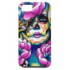Wash Away Sugar Skull Girl iPhone 5 Case