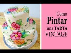 Como Pintar una Tarta estilo Vintage http://www.cakesuniversity.com/tutoriales-cortos
