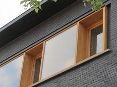 Renovatie • modern • houten raamkader • geverfde gevel • baksteen • Kessel-Lo • Architect: Katrien Delespaul