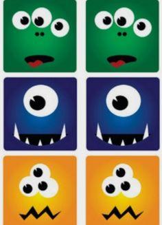 http://nounoulolo88.centerblog.net/ Mémori des monstres - Planche n°1
