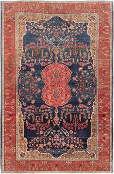 For my kitchen - Antique Persian Sarouk Farahan Rug 47522 Main Image - By Nazmiyal Persian Carpet, Persian Rug, Turkish Rugs, Textiles, Main Image, Rug World, Interior Rugs, Magic Carpet, Carpet Colors