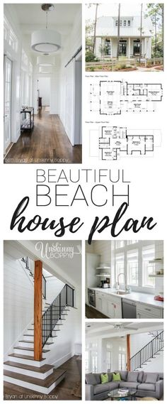 Take a dream home tour in Watercolor Florida and find out where to buy the house… Take a dream home tour in Watercolor Florida and find out where to buy the house plans for this beautiful beach house! Perfect home for a girl's weekend! - Beach H Beach House Floor Plans, Cottage Floor Plans, Cottage House Plans, Small Beach Houses, Dream Beach Houses, Tiny Beach House, Small Houses, Beach Cottage Decor, Coastal Decor