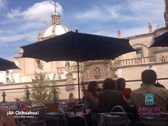 TURISMO EN BARRANCAS DEL COBRE. En el restaurante MESÓN DE CATEDRAL, contamos con platillos únicos de la cocina mexicana como nuestras enchiladas de pato en mole o un delicioso filete de pescado relleno de mariscos y bañado en salsa chipotle. Le invitamos a visitarnos en el Centro Histórico de Chihuahua, en la calle de Victoria segundo piso esquina calle 2.a Col. Centro, a un costado de la bella Catedral. Reservaciones al teléfono (614) 410 1550 #turismoenchihuahua