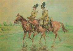 Csendőrség története Austrian Empire, Defence Force, Diorama, Police, Moose Art, Old Things, Horses, Painting, Animals