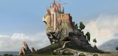 Early concept for the castle from Snow White & The Huntsman